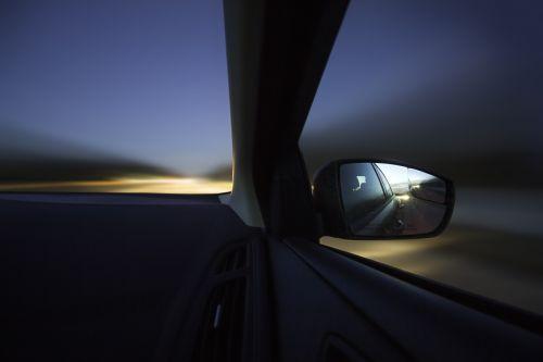 car drive dusk