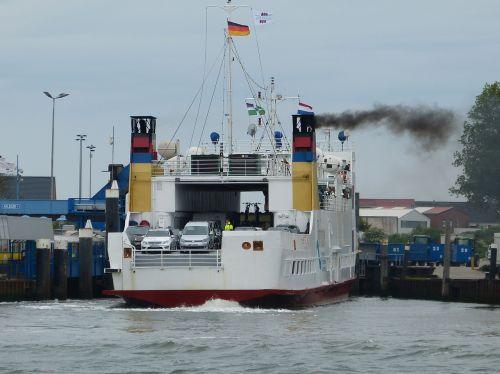 car ferry borkum north sea