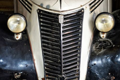 car front grille spotlight
