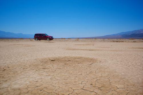 Car In Mojave Desert