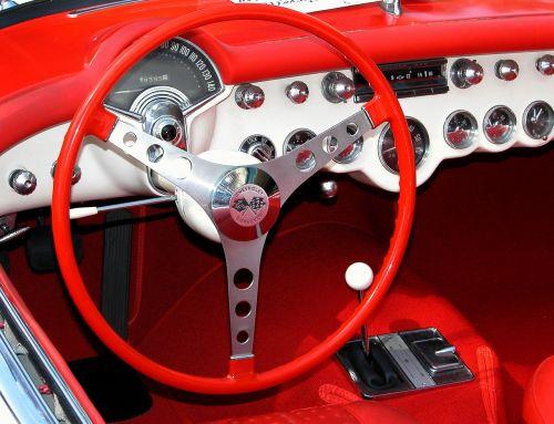 car interior classic car retro