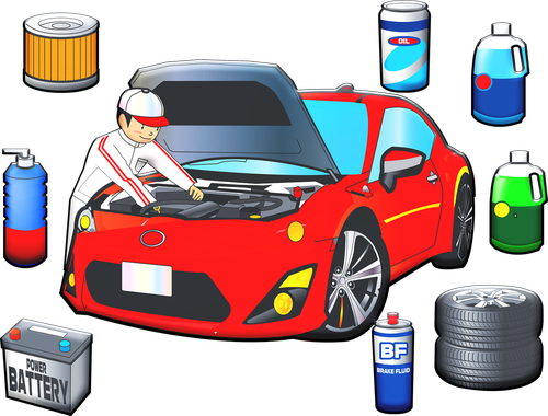car mechanic  car  tires