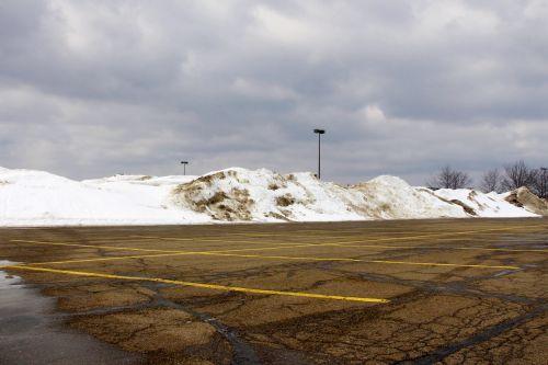 Car Park After Snow Plows