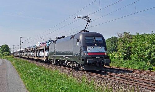 car train  pkw  railway