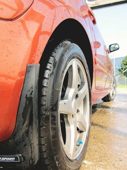 car wash wheels rims