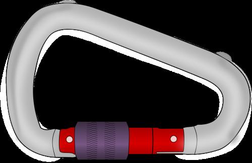 carabiner screw lock climbing