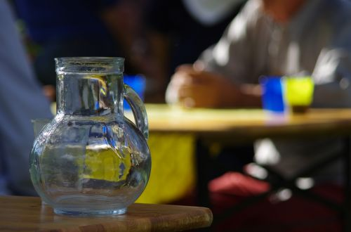 pitcher water glass