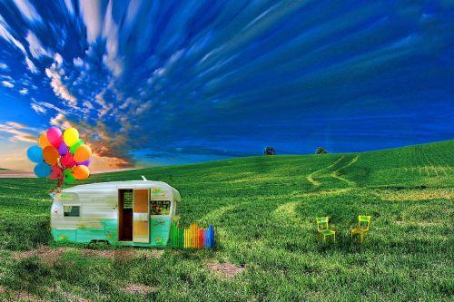 caravan meadow holiday