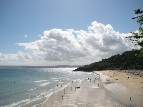 carbis bay beach st ives cornwall