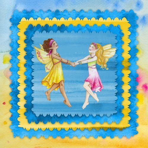 card vintage fairies