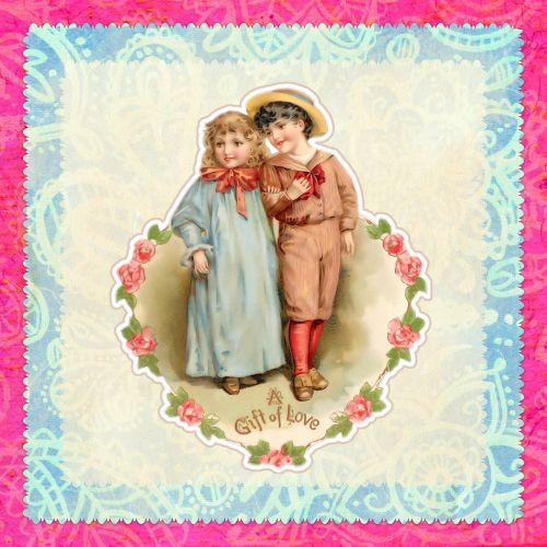 card vintage children