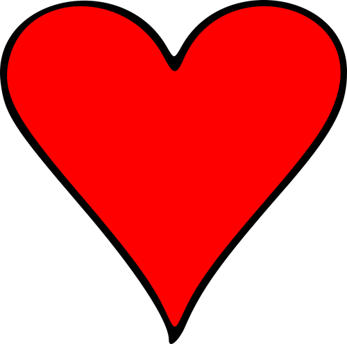 card heart outlined