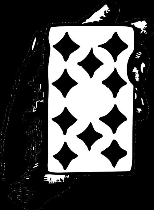 card ten diamonds