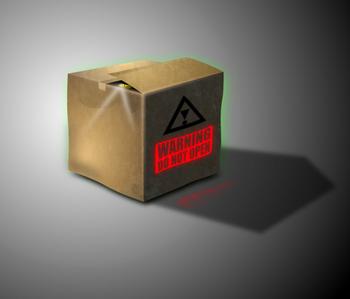 cardboard box mysterious box