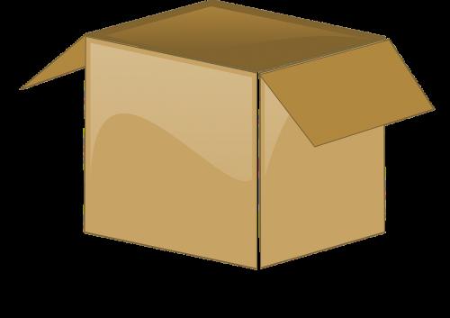 cardboard box open package