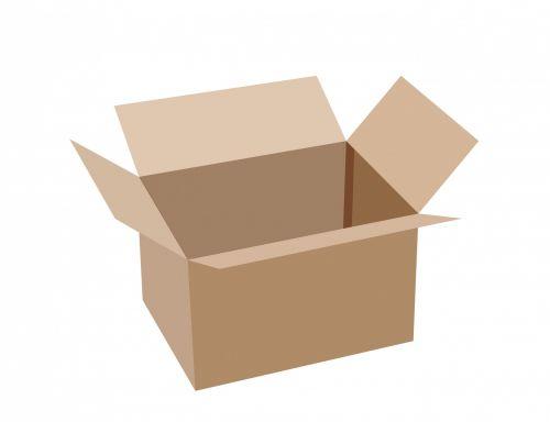 Cardboard Box White Background