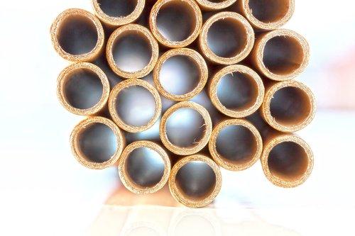 cardboard tubes  bundled  cardboard