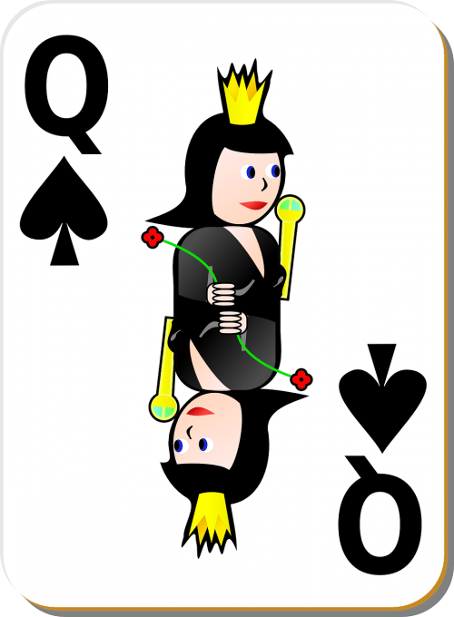 cards queen playing card