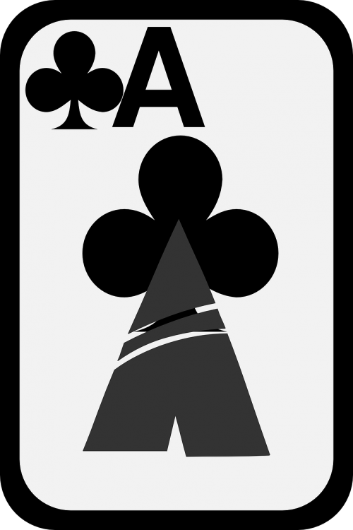 cards ace clubs