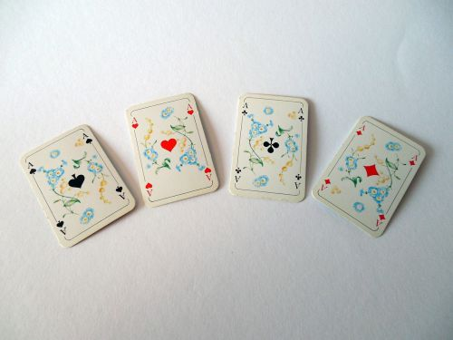 cards playing cards aces