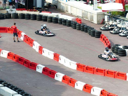 cards driver go kart track kart
