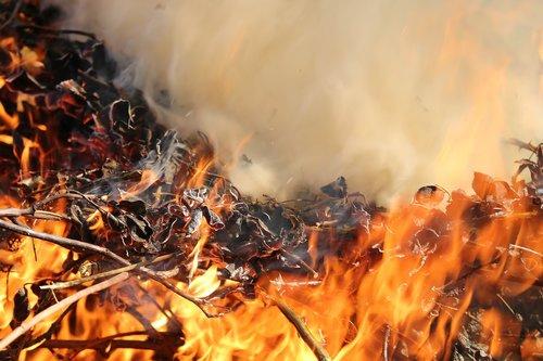 careful with fire  burning  smoke