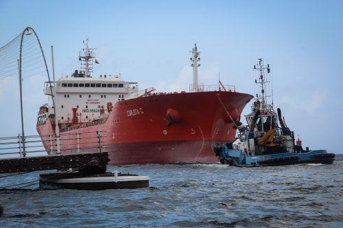 cargo ship ocean