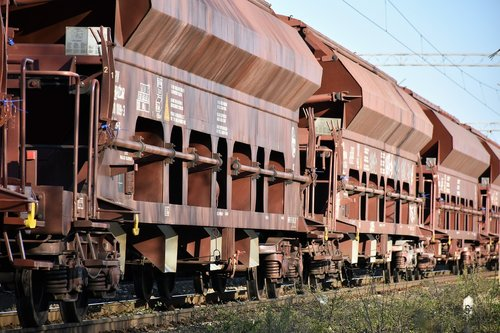 cargo train  wagons  transportation