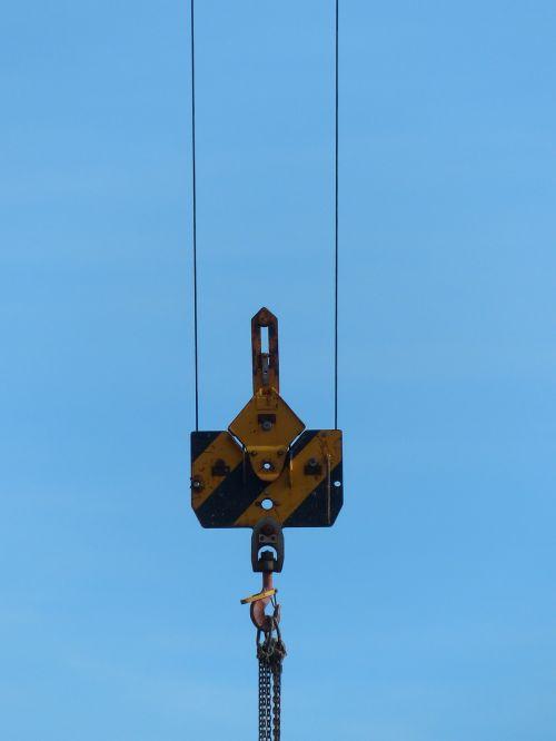 cargo transport hook hoist rope