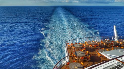 caribbean ship driving cruise ship