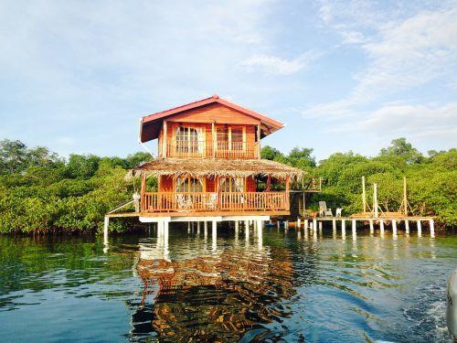 caribbean house on water house on stilts