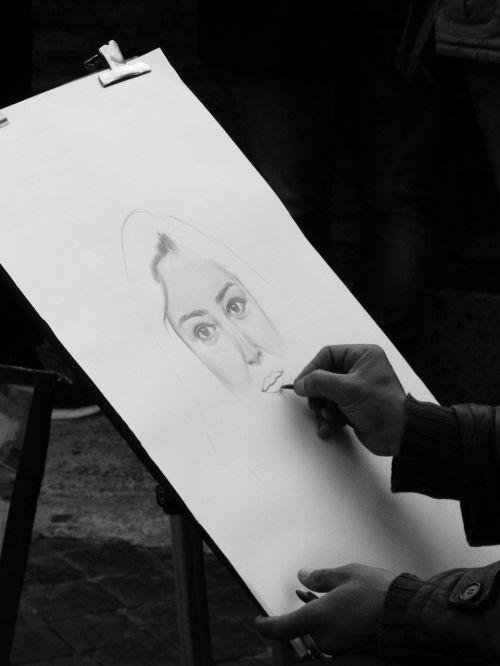 caricature hands artist