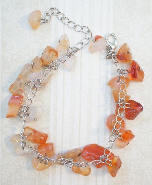 carnelian orange bracelet
