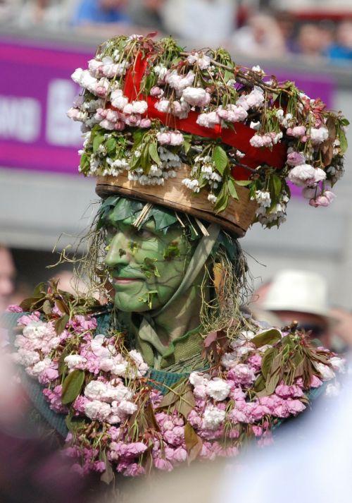 carneval man green man