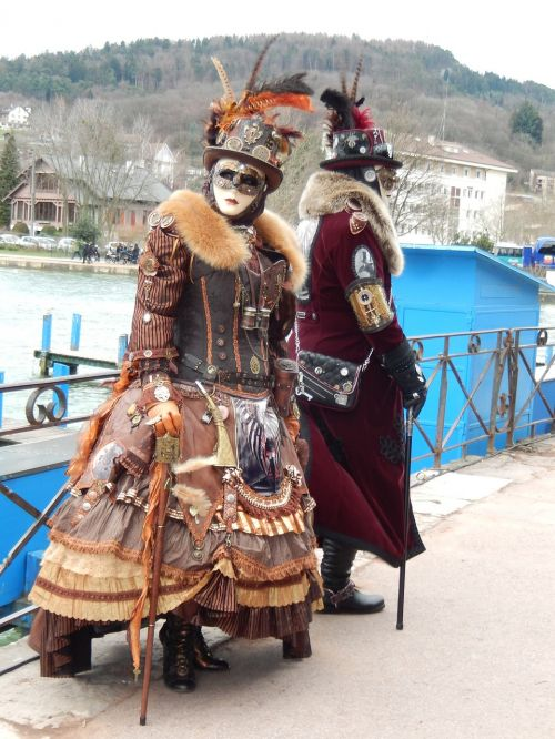 carnival couple disguise