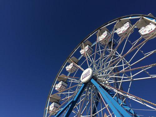 carnival ferris wheel low angle shot
