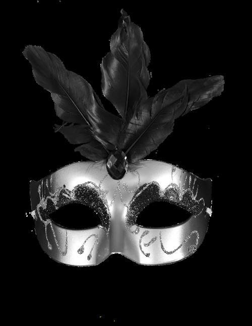 carnival black mask