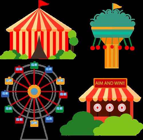 carnival cartoon vectors fair