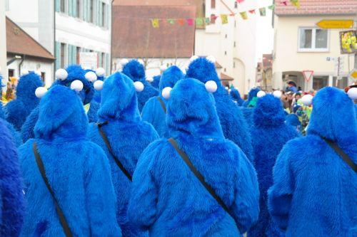 carnival suit blue