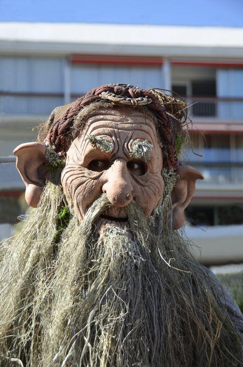 carnival head beard