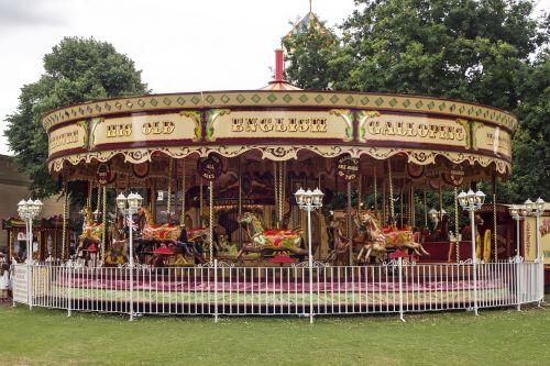 carousel carousel horses wooden horse