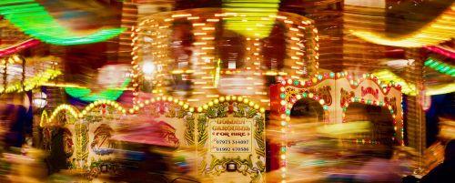 karuselė,važiuoti,šviesus,žibintai,judėjimas,šviesus,linksma,retro