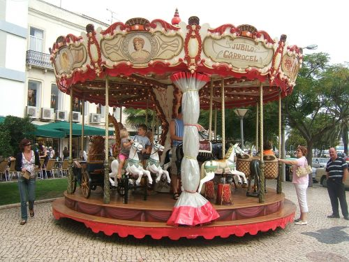 carousel children horse