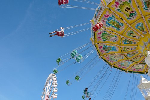 carousel  chain carousel  ferris wheel