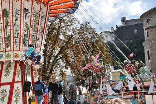 carousel  funfair  fun