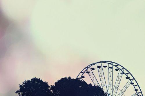 carousel ferris wheel silhouette