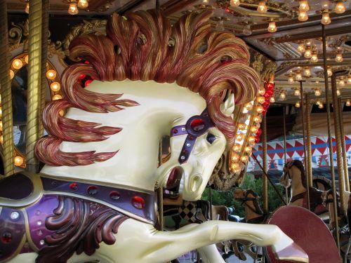carousel horse folk festival hustle and bustle