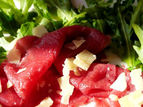 carpaccio beef raw meat