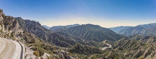 carretera de la cabra  andalusia  mountain