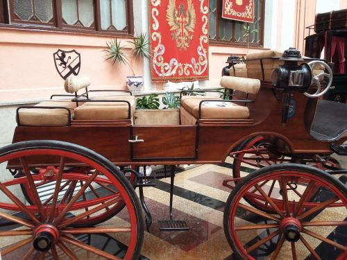 carriage carriage horses drawn carriage old
